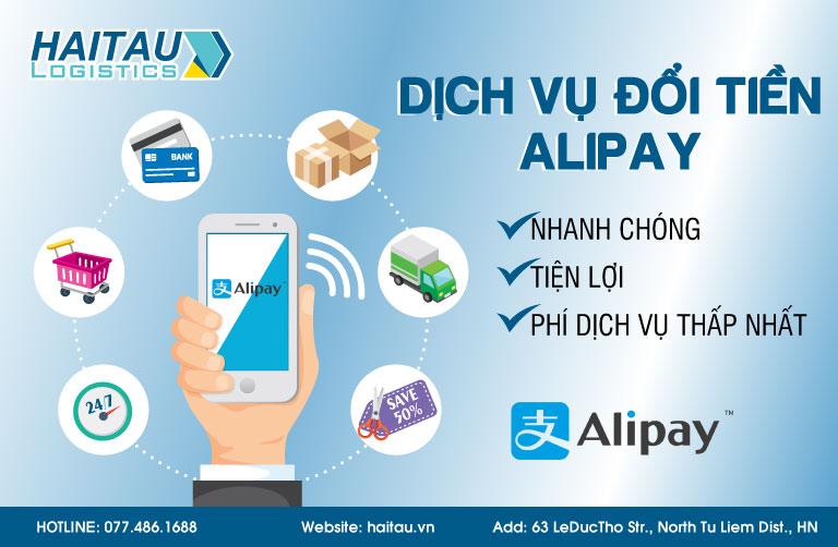 Dịch vụ đổi tiền Alipay