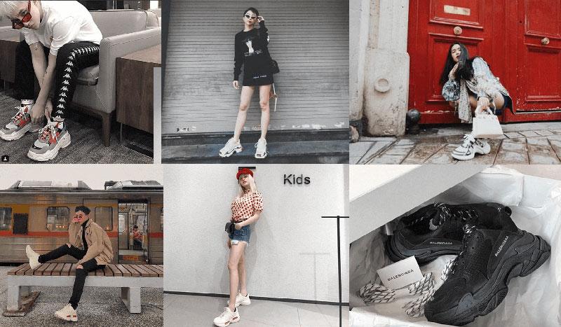 mẫu giày Dad Shoes - 3 mẫu giày hot trend 2018