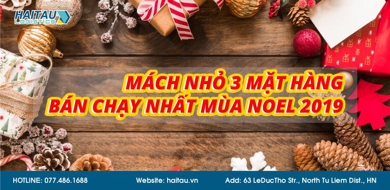 Mặt hàng bán chạy trong dịp lễ Noel 2019