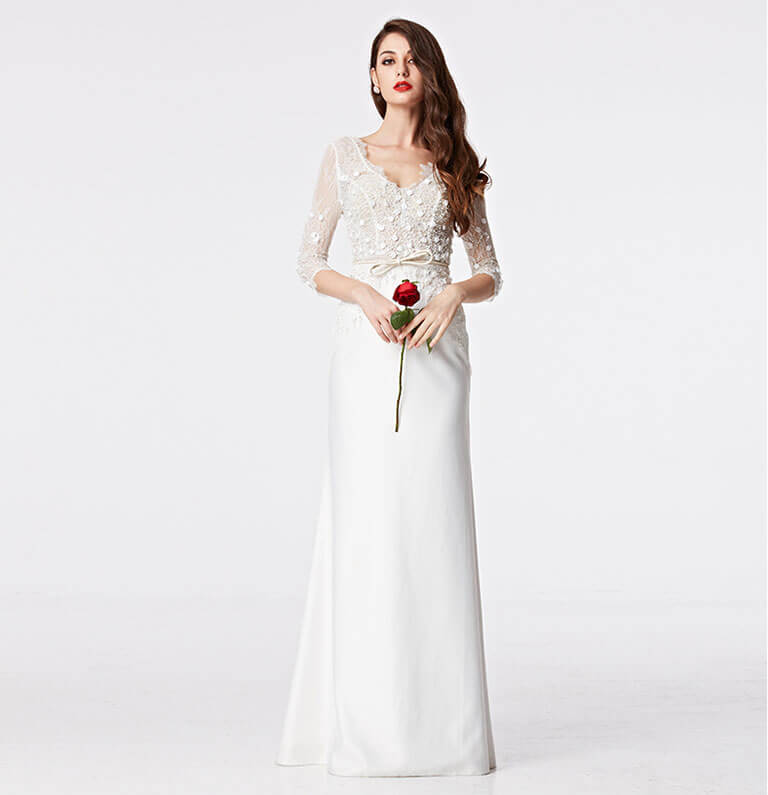 Mẫu váy cưới Quảng Châu đơn giản