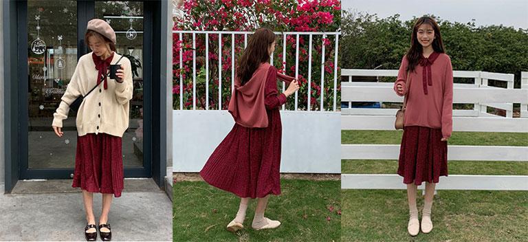 Váy đầm xuân Hàn Quốc được nhiều người lựa chọn