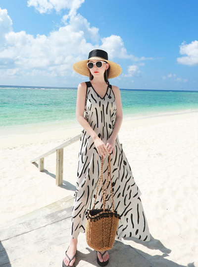 Nhập váy đầm maxi Quảng Châu đi biển 07