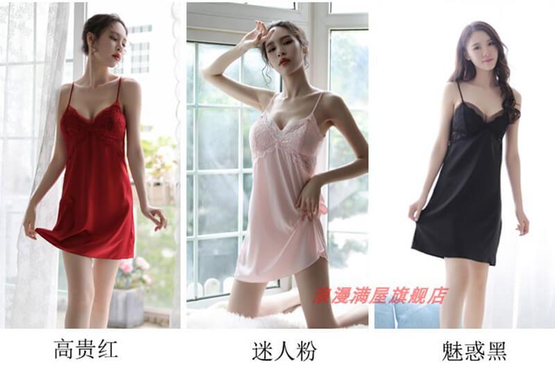 Váy ngủ lụa Quảng Châu trên Tmall