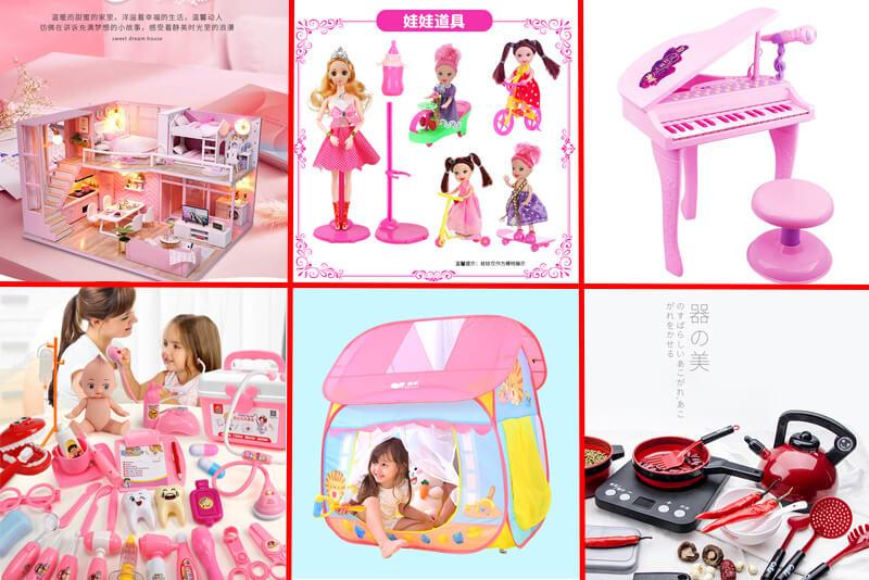 Nhập hàng đồ chơi cho bé gái