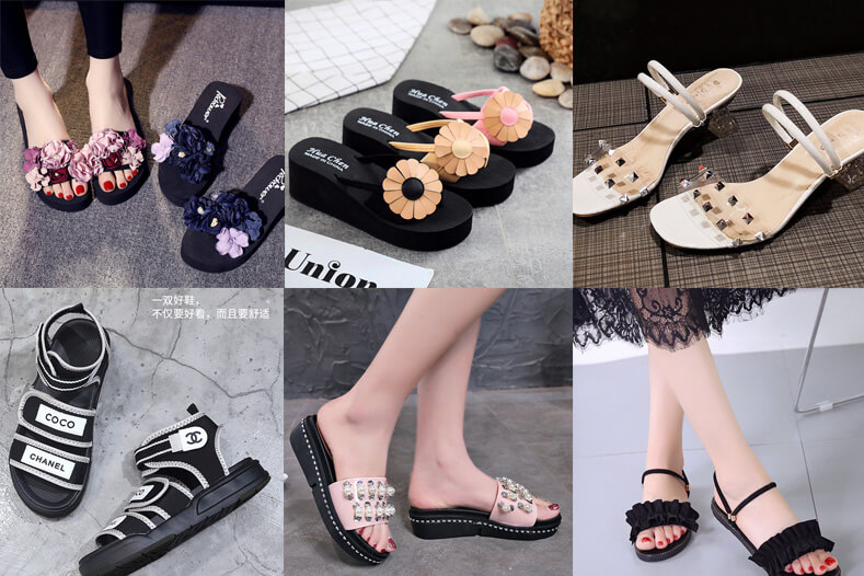 Nguồn sandal nữ Quảng Châu bán cháy hàng 2019 - 02