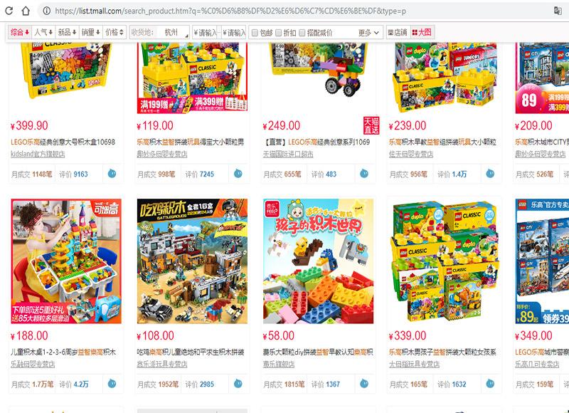 Đồ chơi xếp hình Lego Trung Quốc trên các website TMĐT Trung Quốc