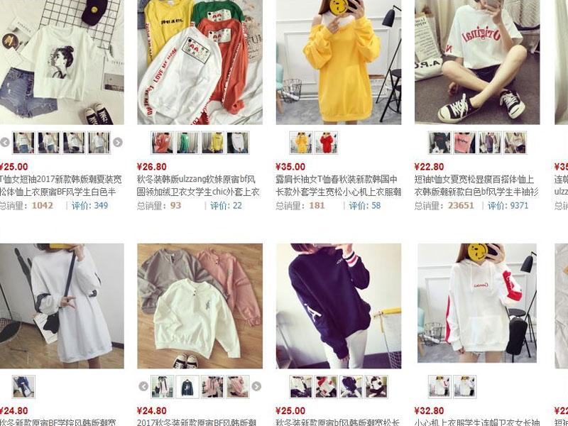Áo phông nữ Quảng Châu giá rẻ trên website TMĐT Trung Quốc