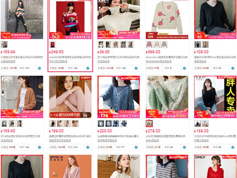 Nhập sỉ áo freesize trên các website TMĐT Trung Quốc