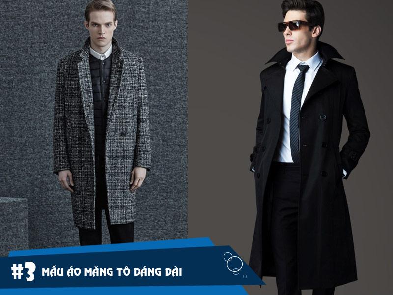 Áo măng tô nam dáng dài