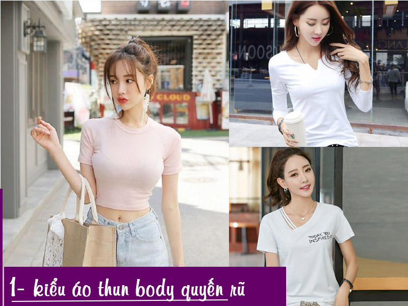 Mẫu áo thun nữ body giúp các cô nàng tăng thêm phần quyến rũ