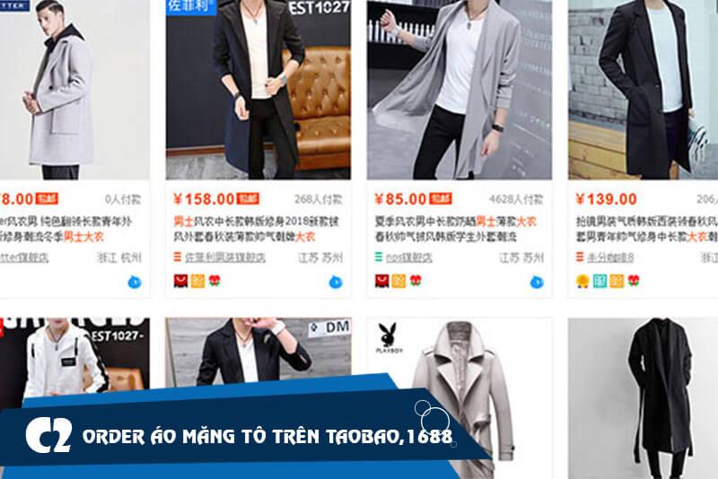Mua áo măng tô nam trên các website TMĐT về kinh doanh
