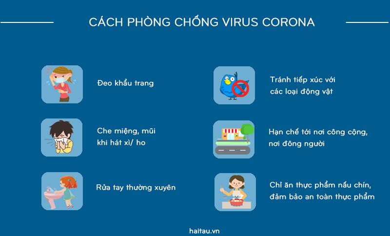 Cách phòng chống dịch virus Corona