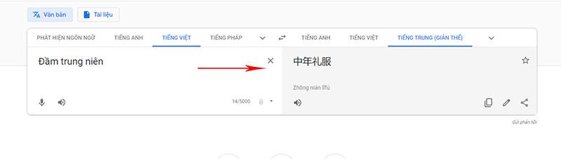 Dịch từ tiếng Việt sang tiếng Trung Quốc
