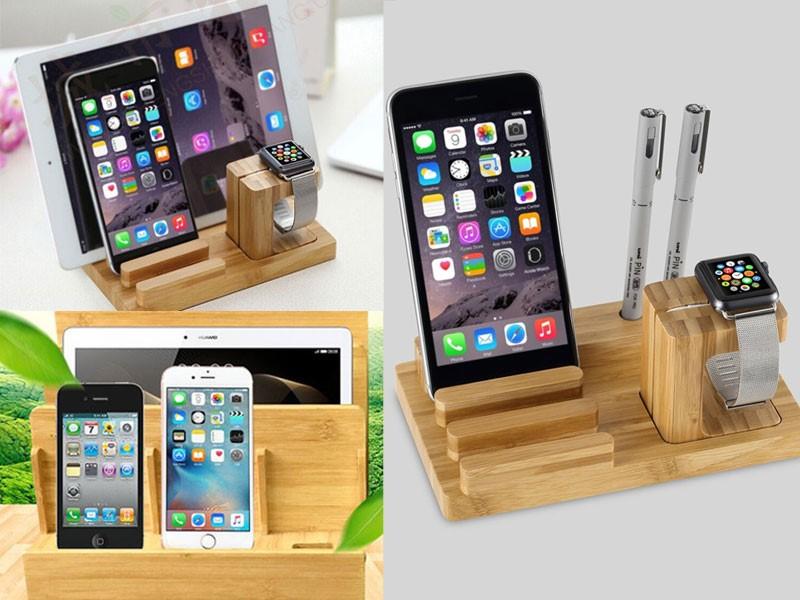 Giá đỡ cho điện thoại bằng gỗ