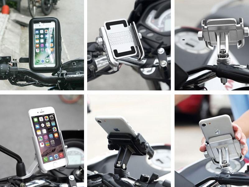 Giá đỡ điện thoại trên xe máy chống nước