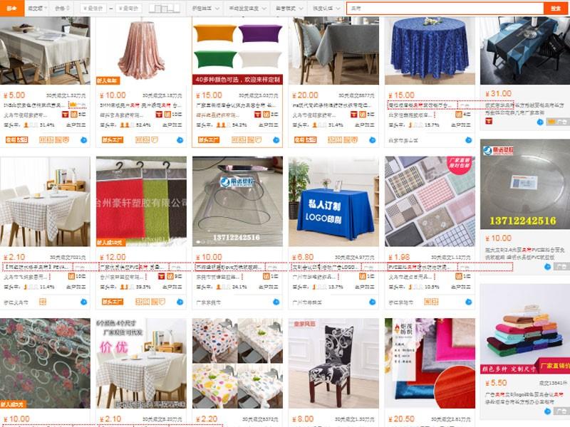 Nguồn nhập khăn trải bàn giá rẻ trên trang TMĐT
