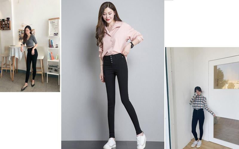 Quần legging đẹp giả jeans