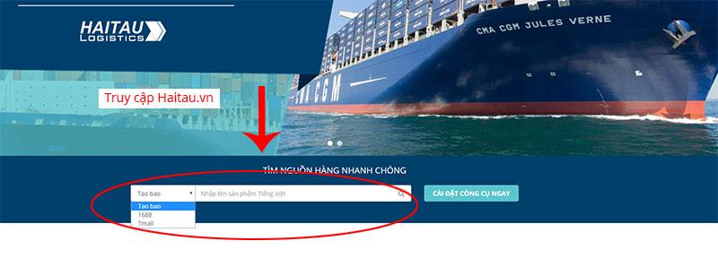 Tìm kiếm sản phẩm trên Hải Tàu Logistics