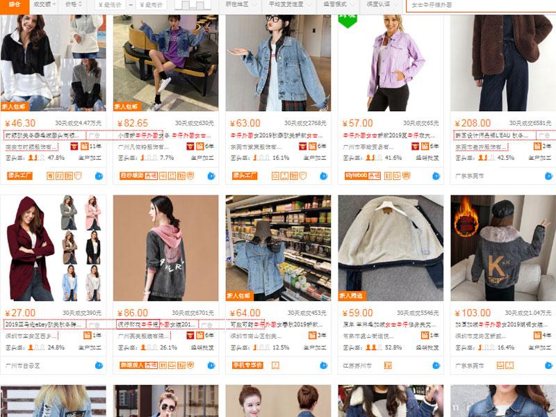 Nguồn hàng áo khoác jeans nữ trên website