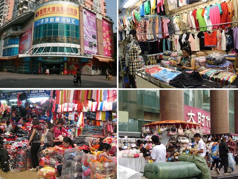 Chợ quần áo Quảng Châu Chàm Sấy