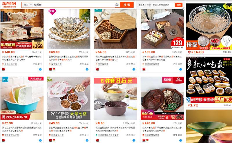 Khay đựng mứt tết trên Taobao