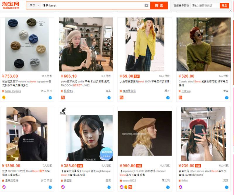 Nguồn mũ nồi nữ trên Website TMĐT