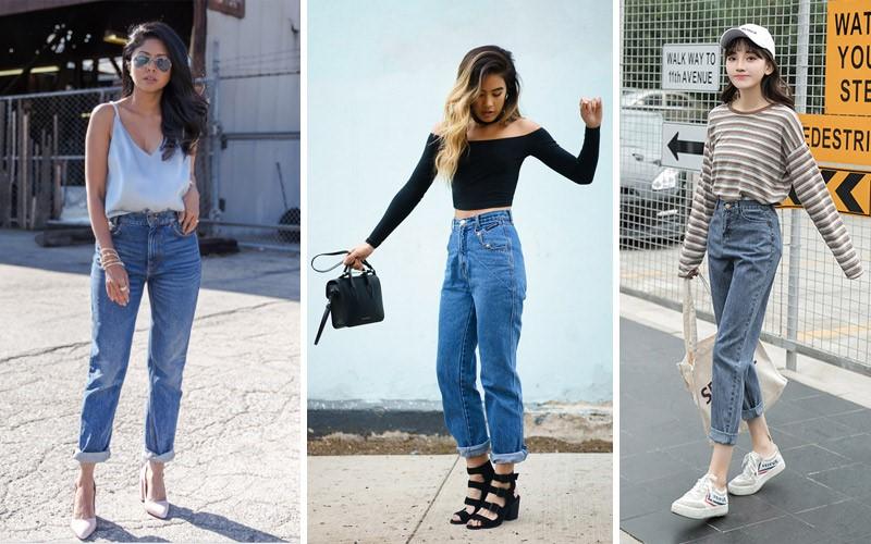 Quần babby jeans nữ