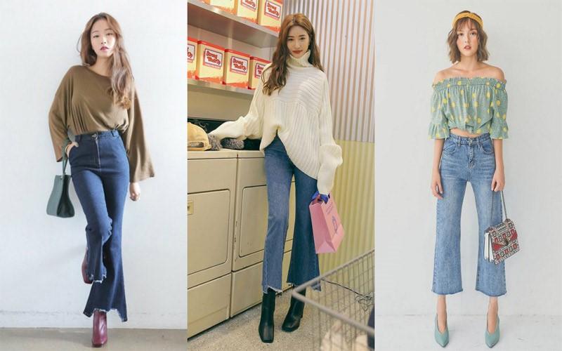 Mẫu quần jeans ống loe