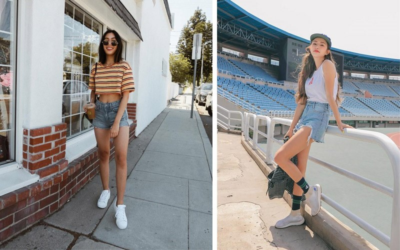 Mẫu quần short jeans rất được ưa chuộng trong những ngày hè