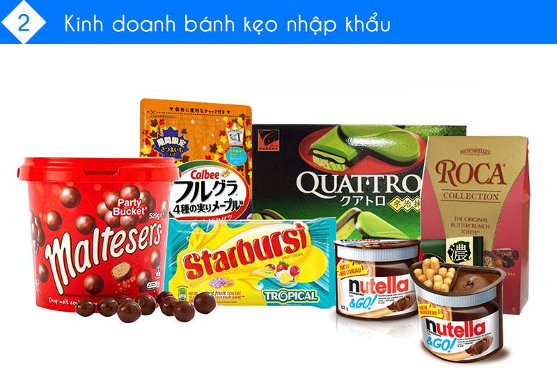 Kinh doanh bánh kẹo nhập khẩu