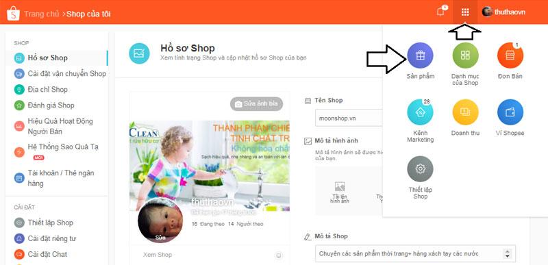 Cách đăng bán sản phẩm trên Shopee