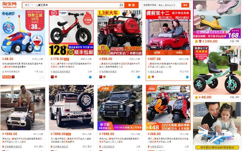 Chọn xe đồ chơi trên trang TMĐT