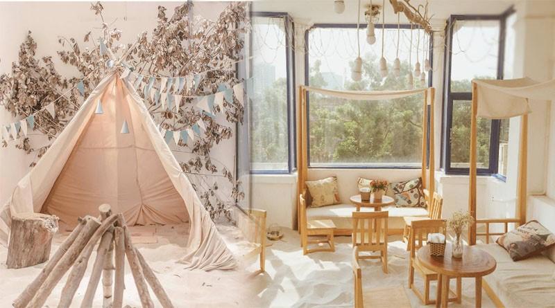 Ý tưởng trang trí quán cafe cát biển