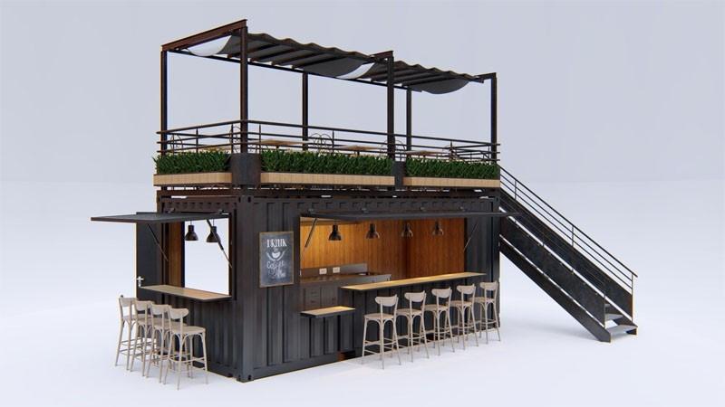 Ý tưởng trang trí quán cafe container