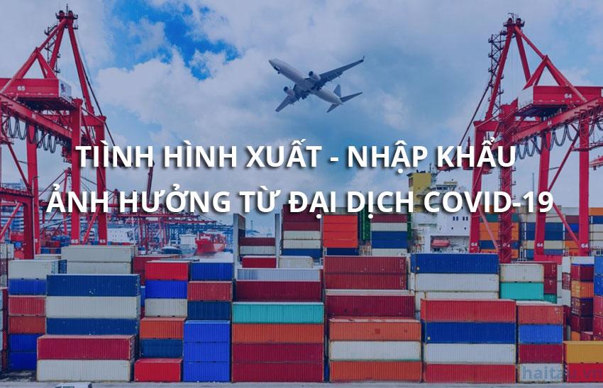 Tình hình xuất nhập khẩu ảnh hưởng nghiêm trọng từ đại dịch COVID-19