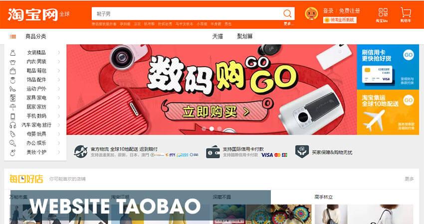 Website mua hàng Taobao - taobao.com